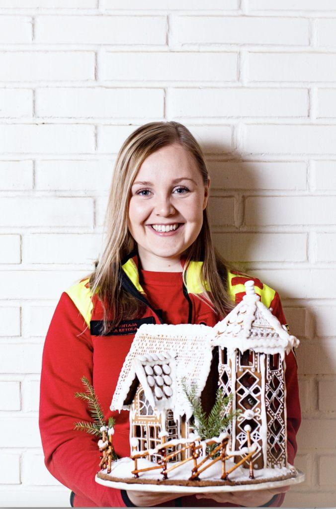 Ensihoitaja Ella Ketola on voittanut piparinleivonnan Suomen mestaruuden vuonna 2016.